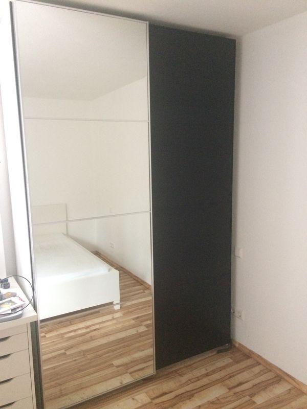Ikea Pax Schiebetüren 2x75cm Spiegelglas Und Schwarz In Karlsruhe