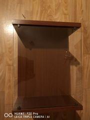 2 Nachttische mit Glasplatte