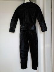Schwarze Lederkombi für Körpergröße 160-170