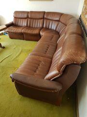 braune Leder Couch Echtleder mit