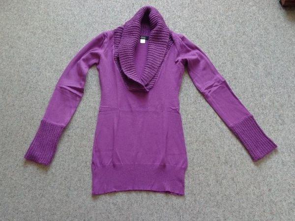 Strick - Long - Pullover Fein- Grobstrick