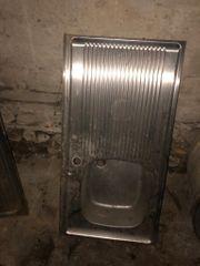gebrauchte Chromstahl Waschbecken