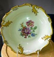 Antiker Porzellan Teller mit Ständer