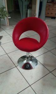 Moderner Drehstuhl Rot