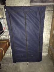 Kleiderschrank Textil dunkelblau zu verschenken