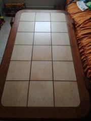 Wohnzimmertisch Buche mit Keramikfliesen 138x82x51cm
