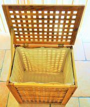 Wäsche-Korb Truhe aus Naturholz mit