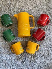 Teekanne Teeservice aus den 70er