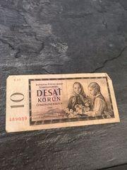 Tschechslowakei Banknote Geldschein 1960 - 10