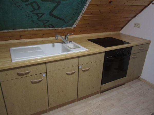gebrauchte Küche Küchenzeile L Form Wildeiche m Kühlschrank, Herd in ...