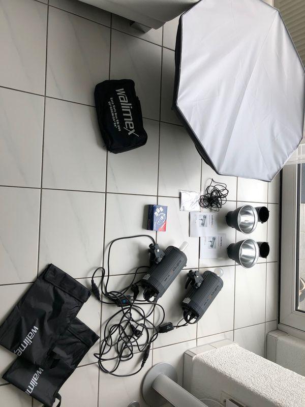 Neuwertige Studio-Blitzanlage von Walimex