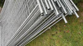 Sonstiges Material für den Hausbau - Bauzaun Neu 72 m Zaun
