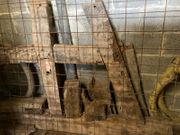 Historische Eichenbalken von Scheunenabriss ca