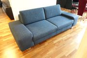 Blaues Stoff-Sofa Couch