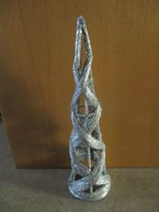 silberne Weihnachtspyramide - ca 63cm