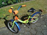 Kinderfahrrad 18 Zoll hellgrün-orange