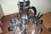 Kaffeedruckkannen-Set 7 tlg Kanne mit
