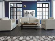 Sofa Set Leder beige 6-Sitzer