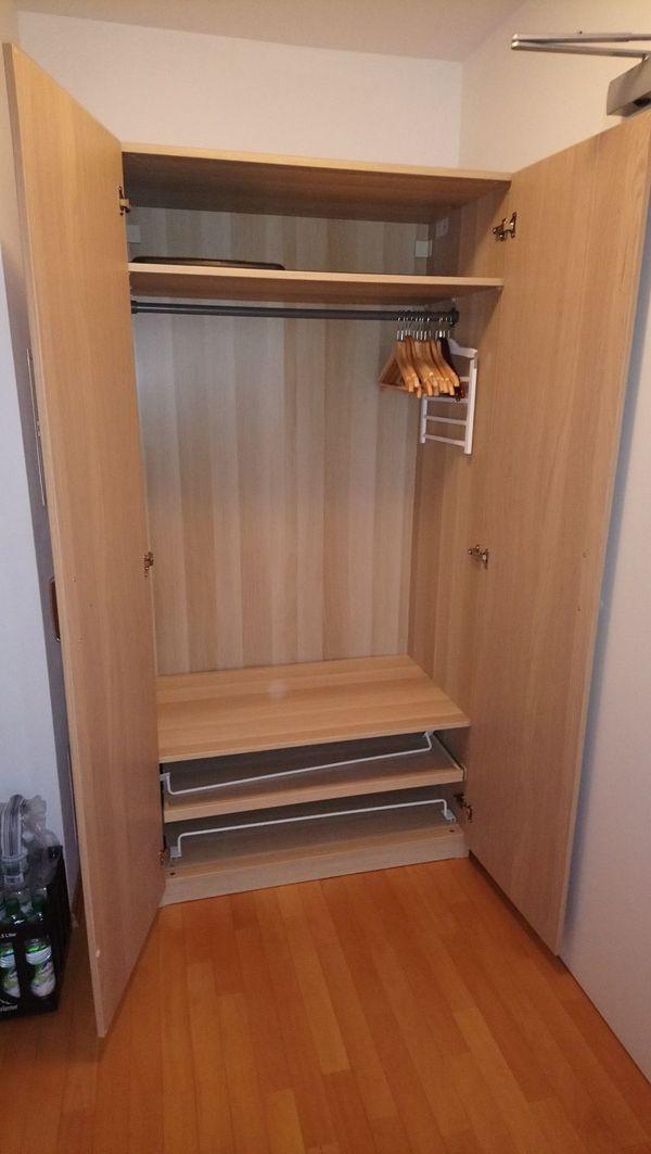 Neuwertiger Schrank Pax Ikea Eiche Weiß Lasiert In Vaterstetten