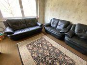 Komplett Wohnzimmer Echt Leder Couchgarnitur