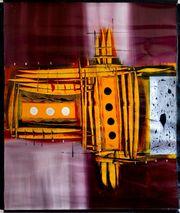 Großes neues BALI-Gemälde Abstrakte Komposition