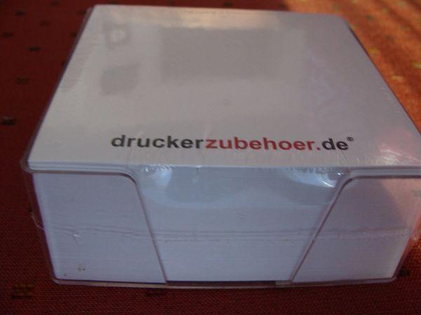 6 Zettelboxen Kunststoff transp je