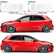Dreieck Aufkleber Dekor-Motive Autoaufkleber Dreiecke
