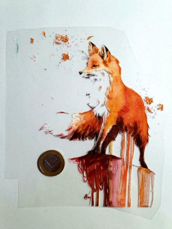 Textile Aufkleber Fuchs noh 7