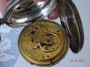 Sammler Antike silberne Taschenuhr aus