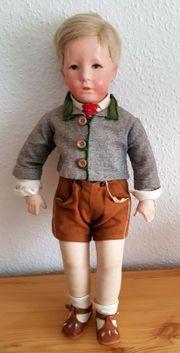 Käthe Kruse Puppe Friedebald Tiroleranzug