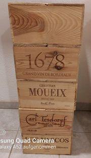 Weinkisten MIT DECKEL Holz 12er
