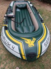 Intex Seahawk 4 Schlauchboot grün-grau-gelb