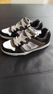 sneaker Halbschuhe weiß schwarz grau