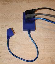 Scart Verteiler mit 3 Kabel