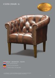 Chesterfield Antikbraun Sessel
