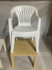 Gartenstühle Stapelstühle Kunststoff weiß 8
