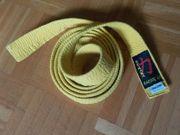 Karategürtel gelb Länge 240cm