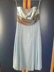 Abendkleid hellblau Größe 36 - nur