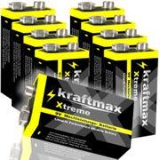 9V Block Batterie Blockbatterie Kraftmax