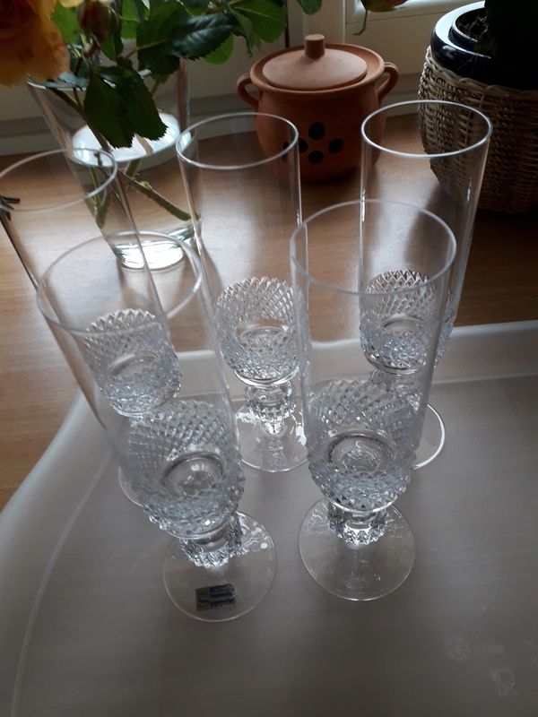 5 x Sektgläser -Kristalloptik-Spiegelau - wie neu