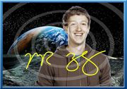 Original MARK ZUCKERBERG Souvenir signiert