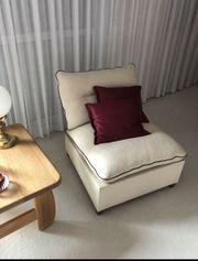 Sofasessel Couch-Sofa Bezug aus Leinenstoff