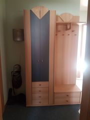 Garderobe 3tlg Buche tw Echtholz