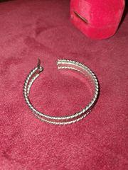 Silber 750 Creolen Ohringe paar