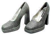 Damen Pumps Plateau Glitzer High Heels