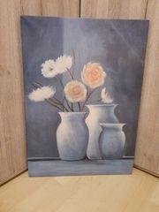 Leinwand-Blumenbild