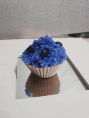 Cupcake Candle Blueberry Kerze in