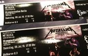 Metallica 2 Konzert Karten Olympiastadion