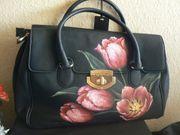 Schwarze Leder Handtasche Neu Original