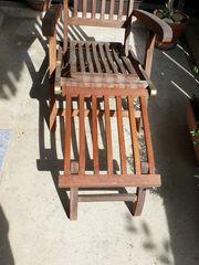 Liegestuhl Holz